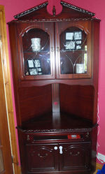 Mahogany corner cabinet( display and tv)