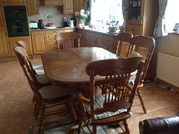 Solid timber table and chairs